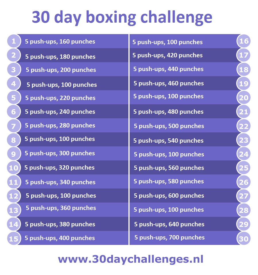 30 day boxing challenge