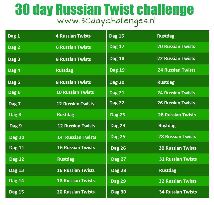 30day russian twist