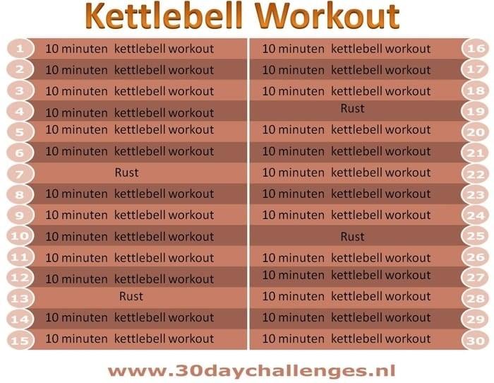 kettlebell workout schema