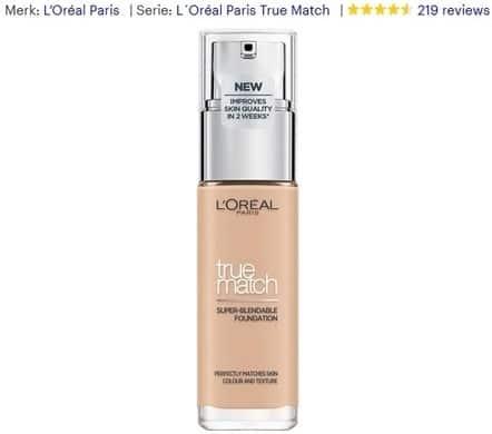 Foundation_L'oréal paris True Match