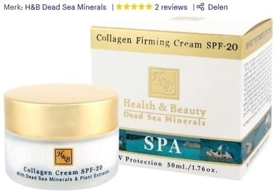 Gezichtscreme van H&B Dead Sea Minerals