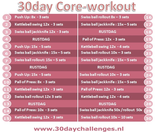 30 day core-workout
