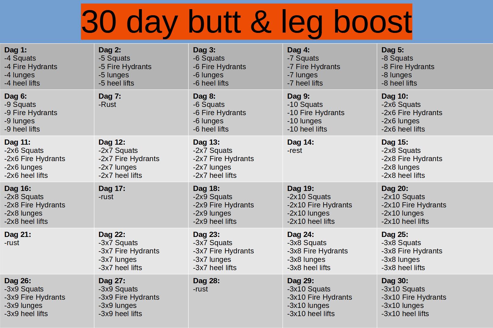 30 day butt & leg boost challenge schema
